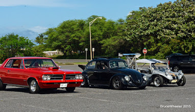 Photo: . This first series of pictures is of the pre-race gathering of contestants in the Outlaw Streetcar Shootout competition. Rot Bonilla won the Shootout with his sharp '64 GTO. He also ran Low ET among the Shootout entries, a stout 10.22-sexconds . . .