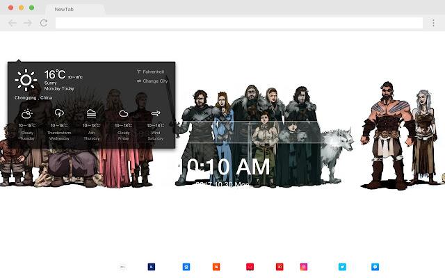 Robb Stark Pop HD TV Drama New Tab Theme