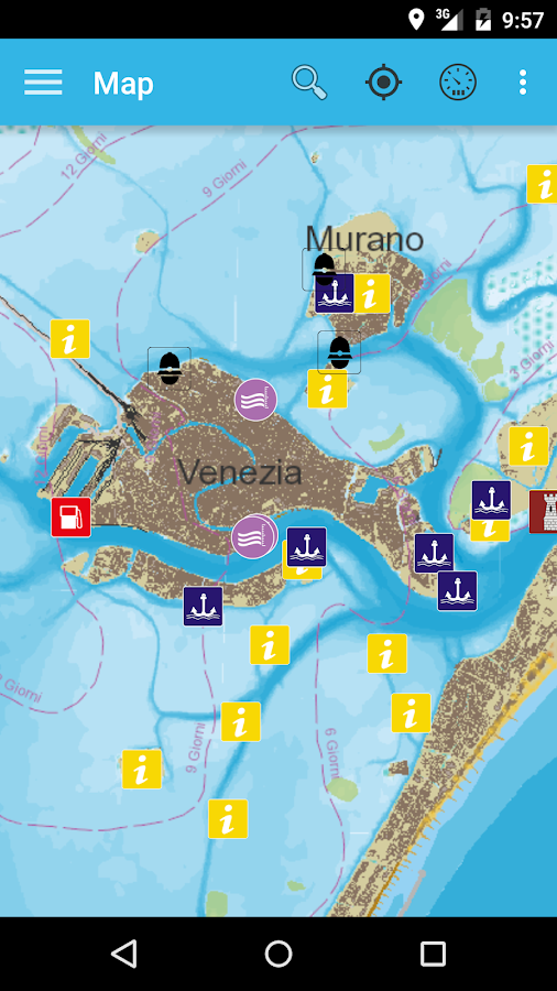 Venice Lagoon chart- screenshot