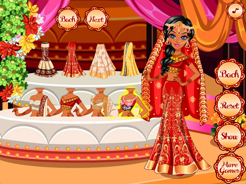 Indian Wedding Game Dress Up Screenshot