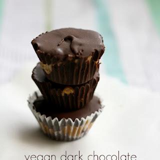 Vegan Dark Chocolate Peanut Butter Cups..