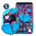 Glitter Broken Heart Theme icon
