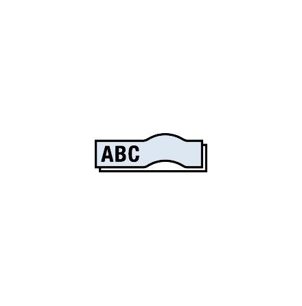 Märkband TZe151 24mm  sva/klar