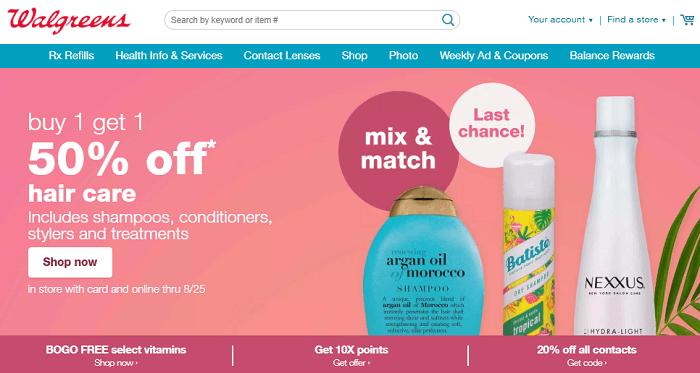 Walgreens.com - Website mua hàng Mỹ chuyên về thực phẩm chức năng uy tín nhất ở Mỹ