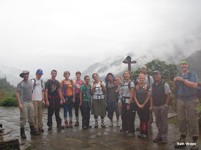 Photo: In front of Landruk Sherpa Guest House