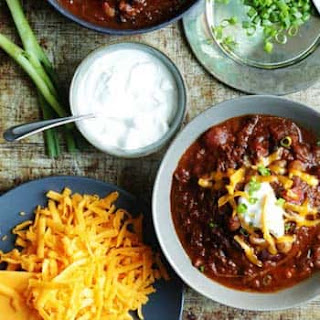 Texas Style Chili with Slow Cooked Brisket.