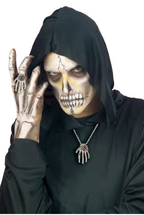 Halsband med skeletthand