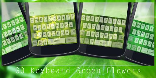 GO Keyboard Green Flowers
