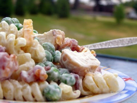 Chicken Bacon Ranch Mac Salad Recipe