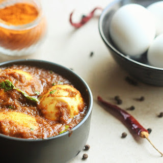 Spicy Chettinad Egg Masala Curry