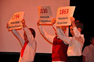 Photo: Pantomima powstan- uczniowie klasy pani Marii i pani Evy.