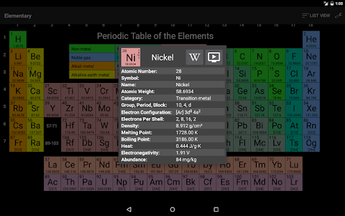 Elementary: Periodic Table- screenshot thumbnail