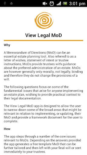 View Legal MoD
