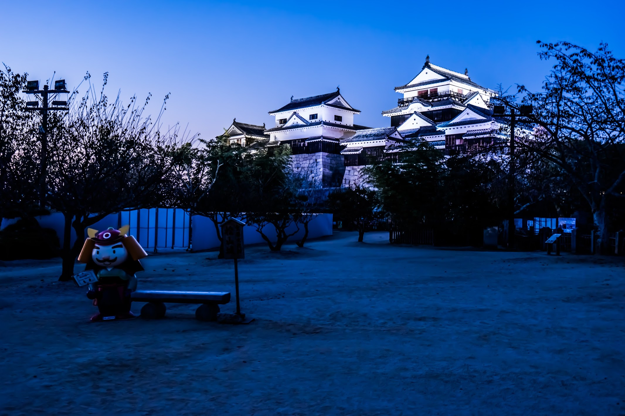 松山城 夜景4