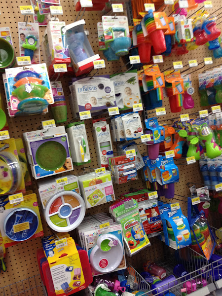 Photo: I started by hitting the baby aisle to think about what I'd need in an emergency with a baby.