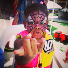Photo: Spiderwoman face paint by Tess in Los Angeles. Call to Book Tess at 888-750-7024
