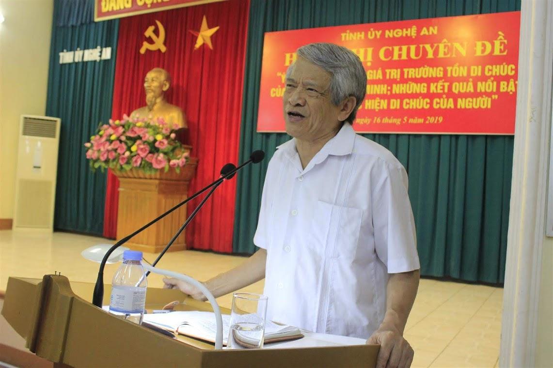 PGS.TS Bùi Đình Phong, Giảng viên cao cấp, Viện Hồ Chí Minh và các lãnh tụ của Đảng – Học viện Chính trị Quốc gia Hồ Chí Minh báo cáo chuyên đề