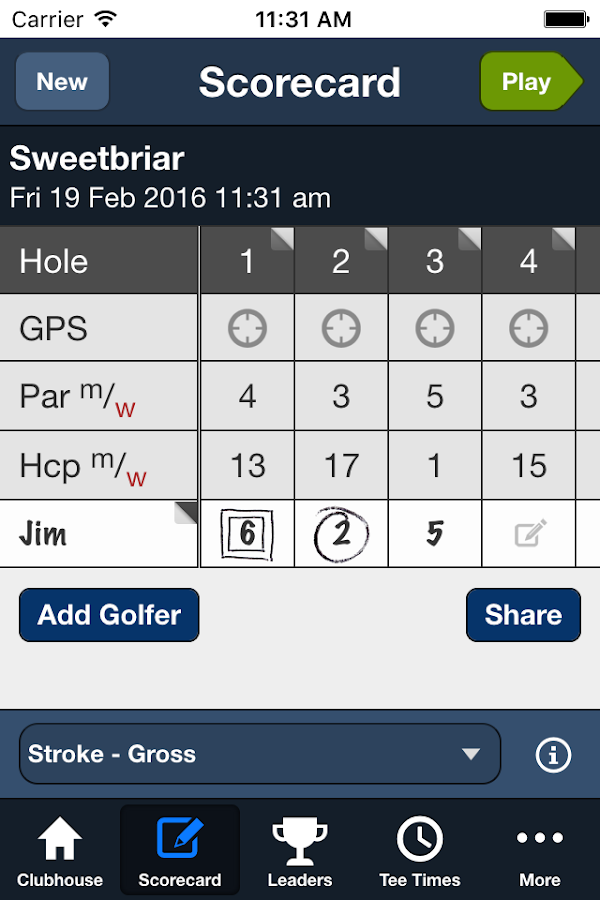 Sweetbriar Golf Club- screenshot