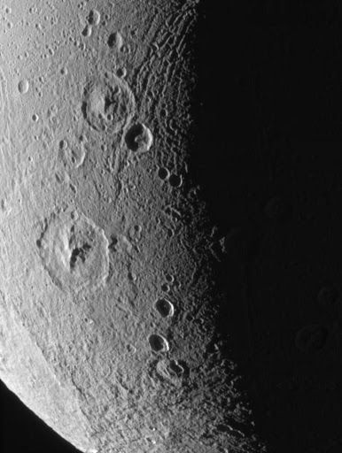 Dione: Magnified View