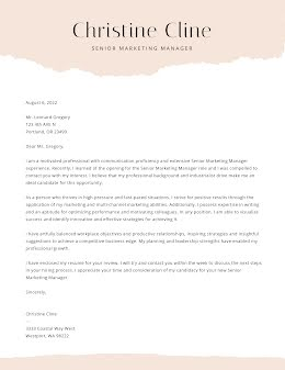 Christine Cline - Cover Letter item