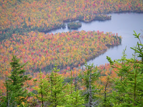 Photo: Colorful coves on Taylor Pond as seen from Catamount.