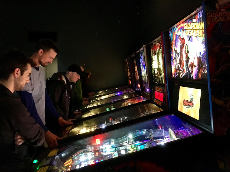 Pinball wizards at Ground Kontrol in Portland's Pearl District.