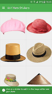 Girls Hats Stickers- screenshot thumbnail
