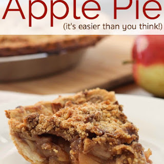 Old Fashioned Crumbly Easy Apple Pie
