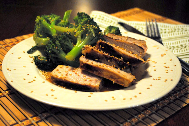 Garlic and Oyster Sauce Broccoli and Pork Chops Recipe