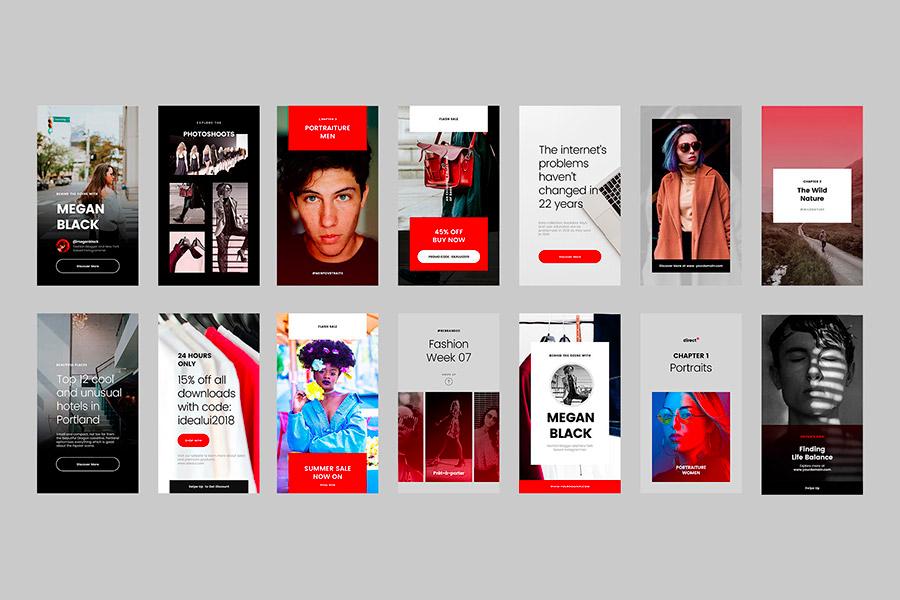 Direct Update Instagram Stories Templates