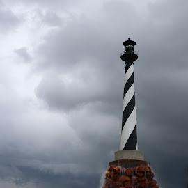 Lighthouse before the storm by Jak Conrad - Novices Only Landscapes ( clouds, lighthouse, landscape, storm, rain )
