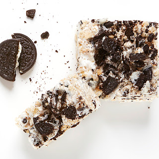 Cookies and Cream Rice Krispie Squares