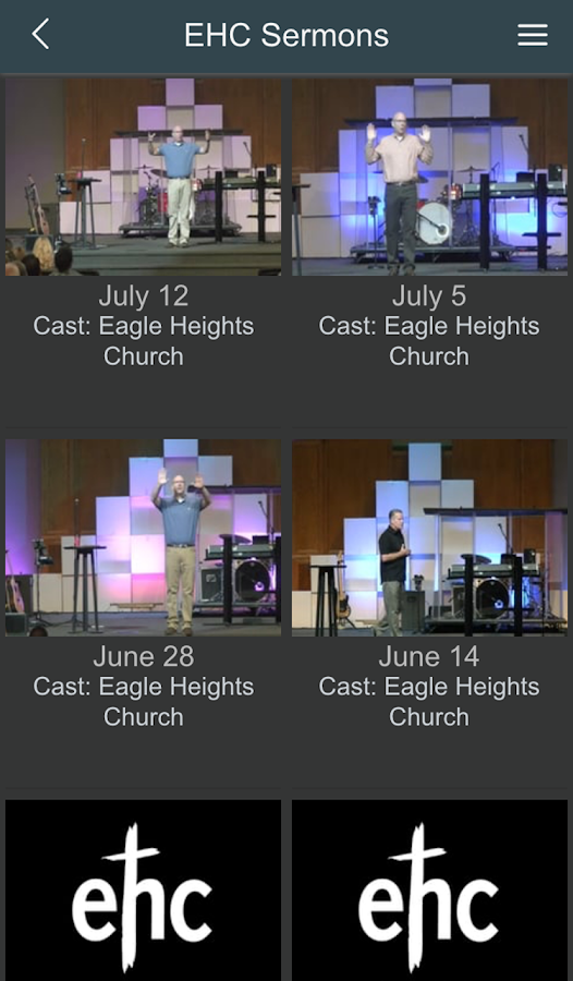Eagle Heights Church App- screenshot