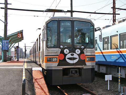 熊本電気鉄道 01形電車 北熊本駅にて
