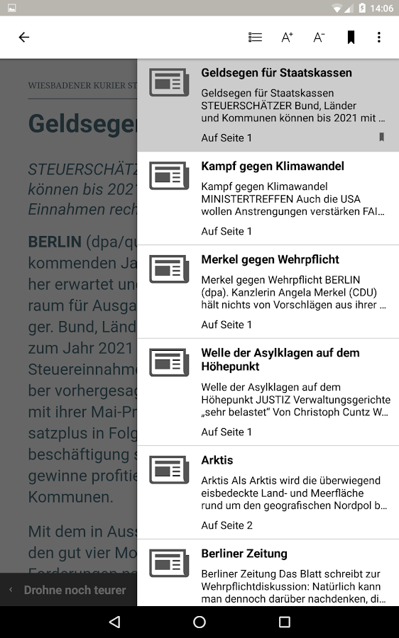 E-Paper Kiosk – Screenshot