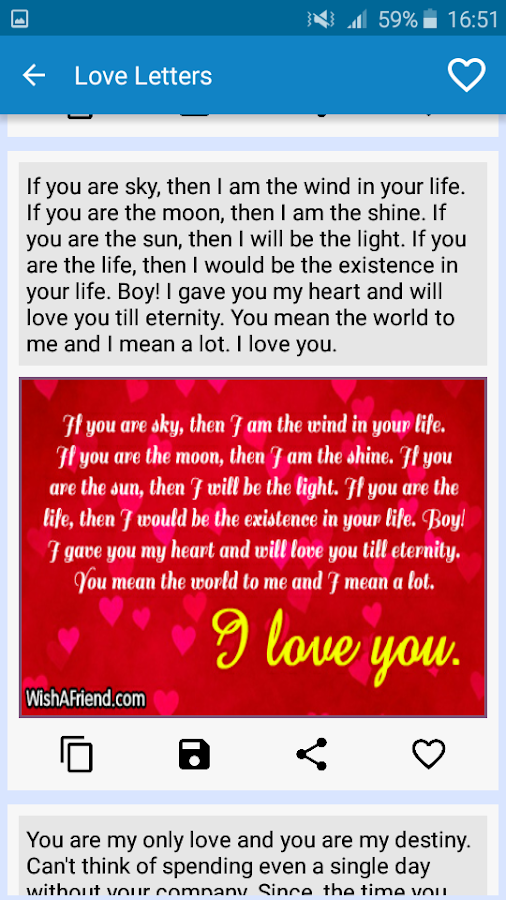 love messages for boyfriend screenshot