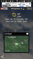 Screenshot of WSFA First Alert Weather