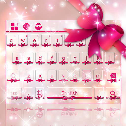 Pink Love Bow Keyboard Theme