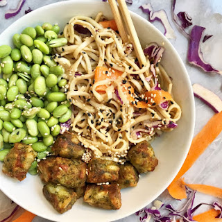 Soba Noodles with Kale Puffs Bowl.