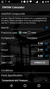 DWSIM Calculator - náhled