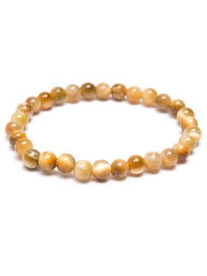 Tigeröga golden, armband 4, 6 eller 8 mm