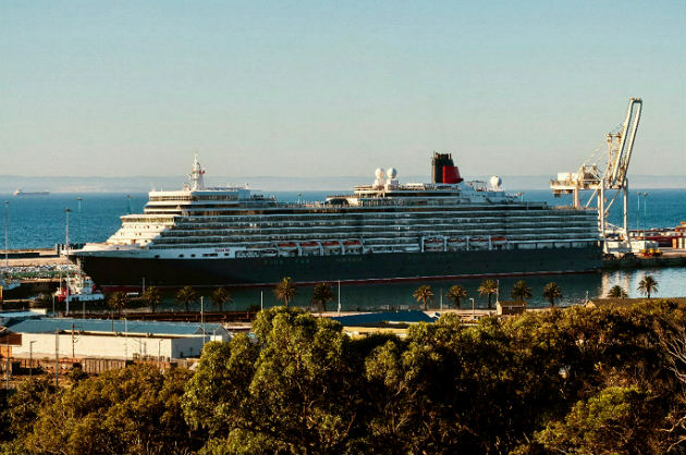 The Queen Elizabeth docked in Port Elizabeth at the weekend as part of a four-month world cruise
