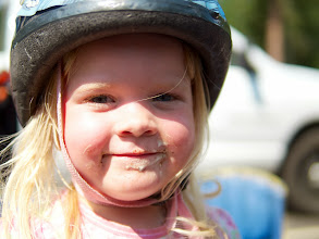 Photo: And what's a camping trip without loads of bike rides, and a little ice cream.