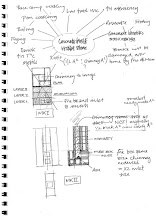 Photo: Design: Initial MM and concrete block sketches