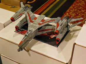 Photo: I also picked up one of the Hammerhead kits from Babylon 5.  Hey, it was 1/72nd.