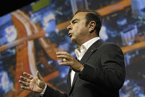 Carlos Ghosn, chairman and CEO of Nissan and Renault, speaks at the 2017 Consumer Electronics Show in Las Vegas, Nevada, on January 5 2017. Picture: Bloomberg