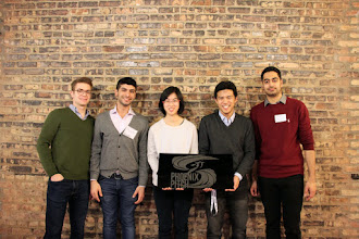 Photo: The Phoenix Pitch committee. From L-R: Cooper Zajac, Jawwad Zakaria, Grace Lu, Shao-Yi Qian, Shaan Sapra