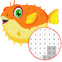 Fish Color By Number - Pixel Art icon