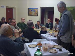 """Photo: Rok 2009. SP6QNK pierwszy z lewej, na spotkaniu w klubie z okazji """"czterdziestki """"Ebekusa."""