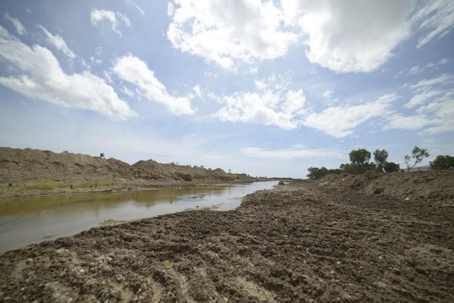 Imagen de la Rambla Morales tras el temporal del pasado septiembre.